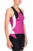 Skins W's Tri400 Racer Back Top Black/Orchid